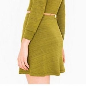 Green Heathered Hyperion Skirt | American Apparel
